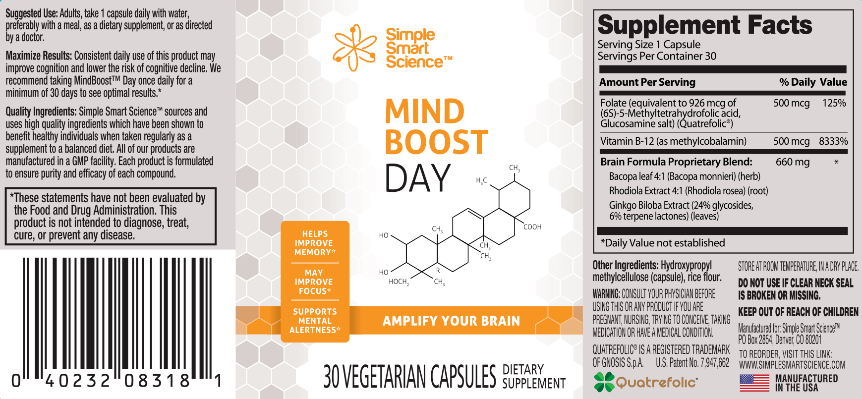 Mindboost Day Label