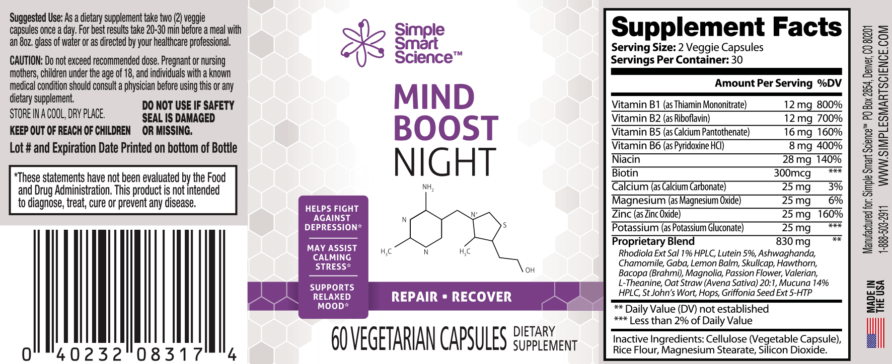 Mindboost Night Label