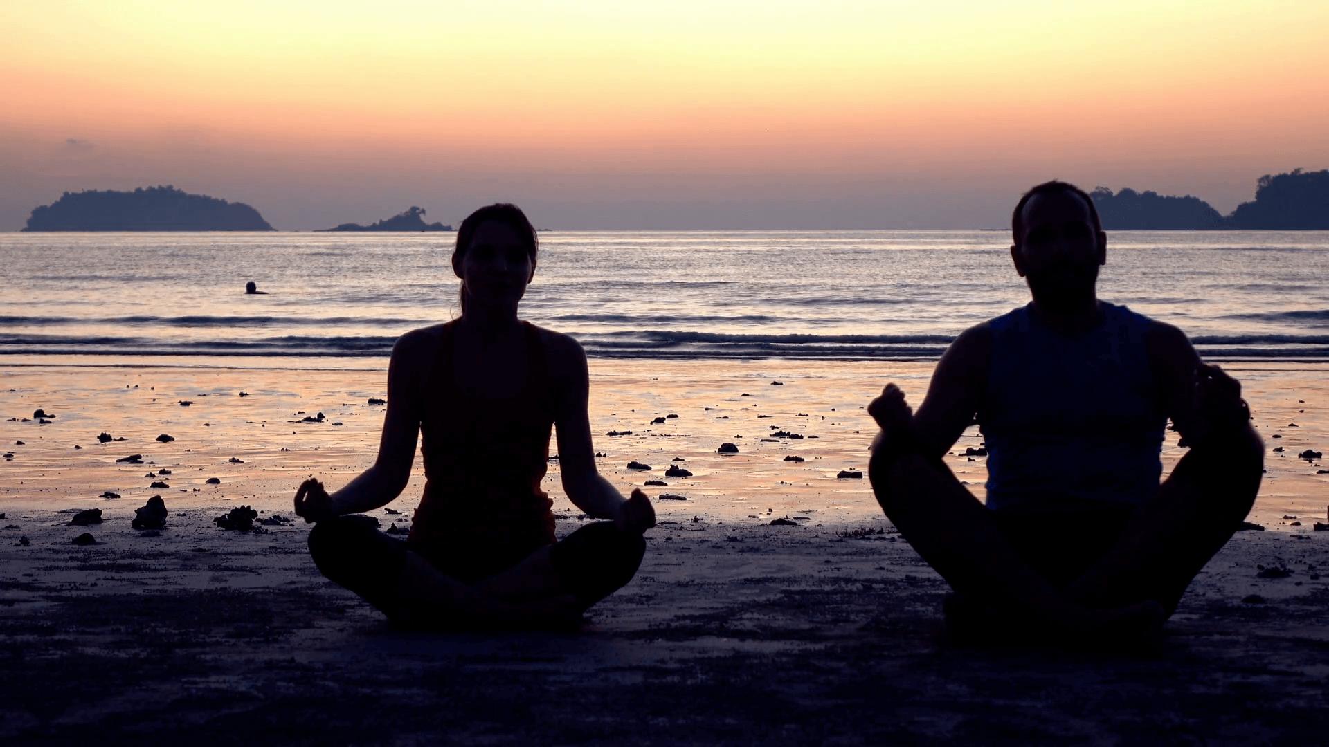 couple meditating