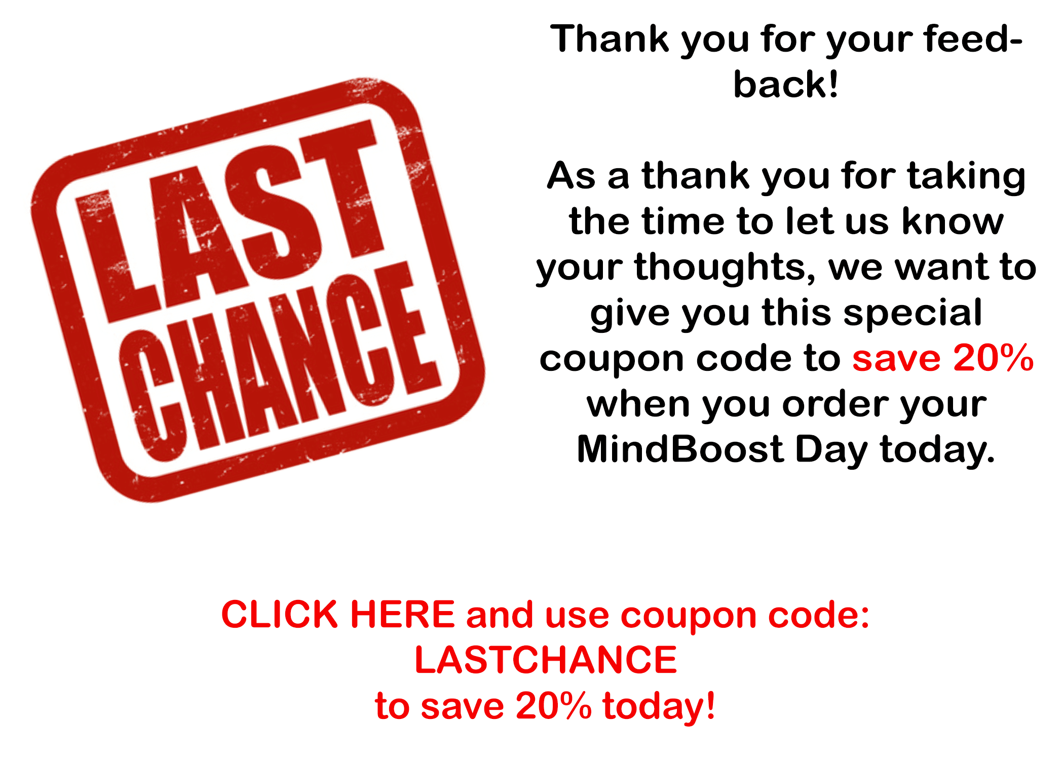 mbd last chance coupon